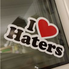 I Love Haters Sticker - VW VAG DUB Scene
